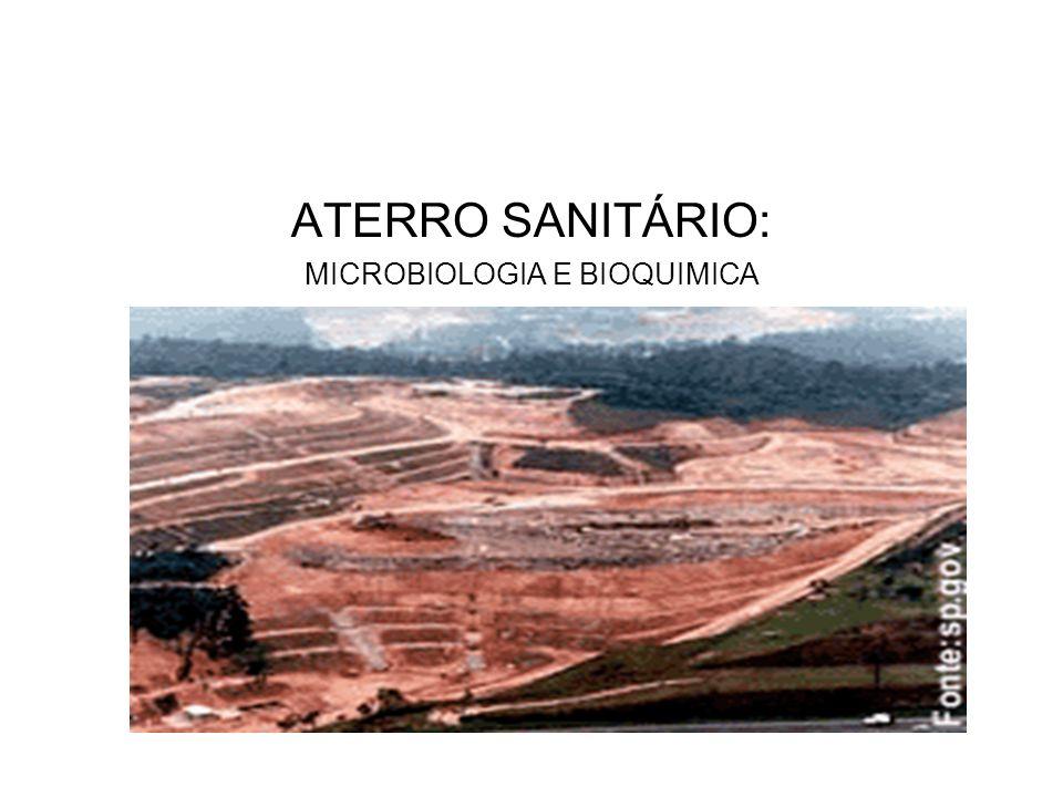 ATERRO SANITÁRIO: MICROBIOLOGIA E BIOQUIMICA