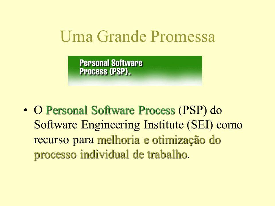 Uma Grande Promessa Personal Software Process melhoria e otimização do processo individual de trabalhoO Personal Software Process (PSP) do Software Engineering Institute (SEI) como recurso para melhoria e otimização do processo individual de trabalho.