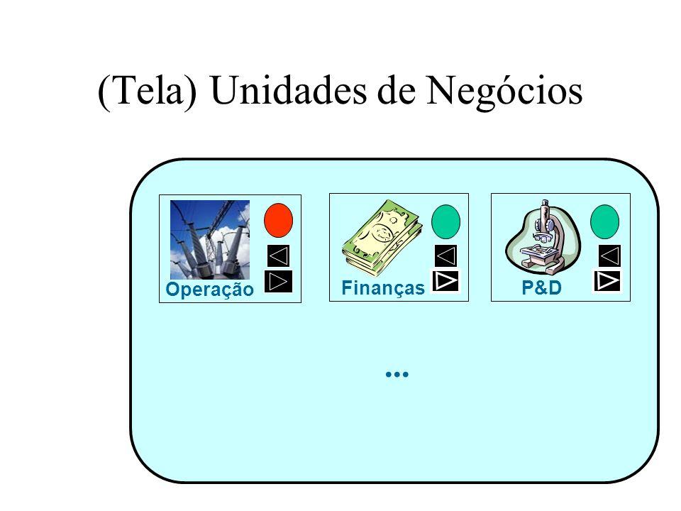 (Tela) Unidades de Negócios Operação Finanças... P&D