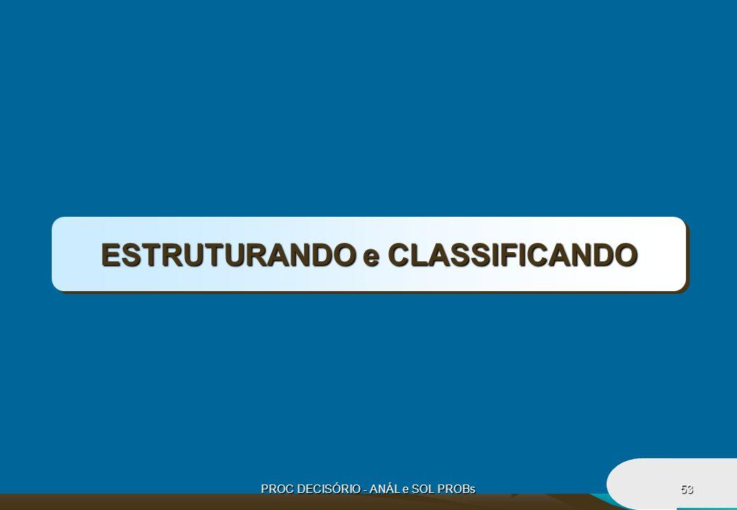 PROC DECISÓRIO - ANÁL e SOL PROBs53 ESTRUTURANDO e CLASSIFICANDO