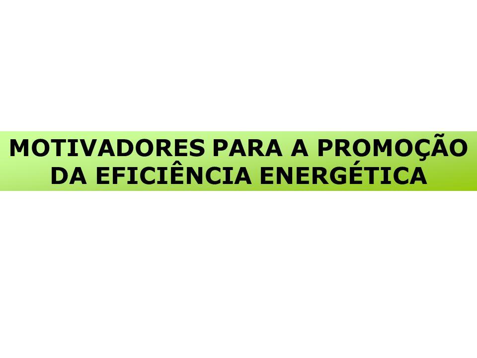 MOTIVADORES PARA A PROMOÇÃO DA EFICIÊNCIA ENERGÉTICA