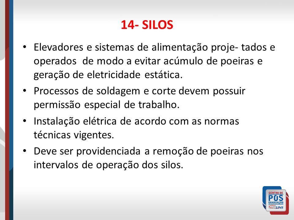 15- ACESSOS E VIAS DE CIRCULAÇÃO Devem ser mantidas em adequadas condi-ções de uso para trabalhadores e veículos.
