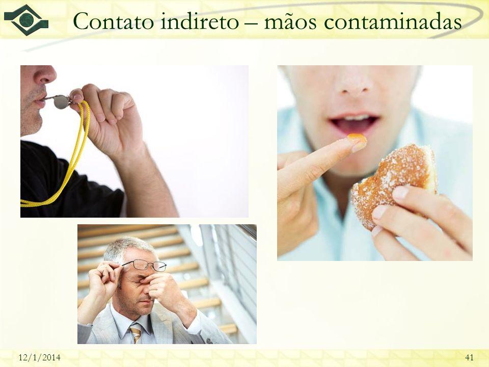 12/1/201441 Contato indireto – mãos contaminadas
