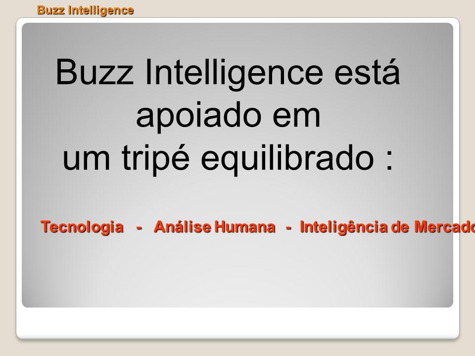Buzz Intelligence está apoiado em um tripé equilibrado : Buzz Intelligence Tecnologia - Análise Humana - Inteligência de Mercado