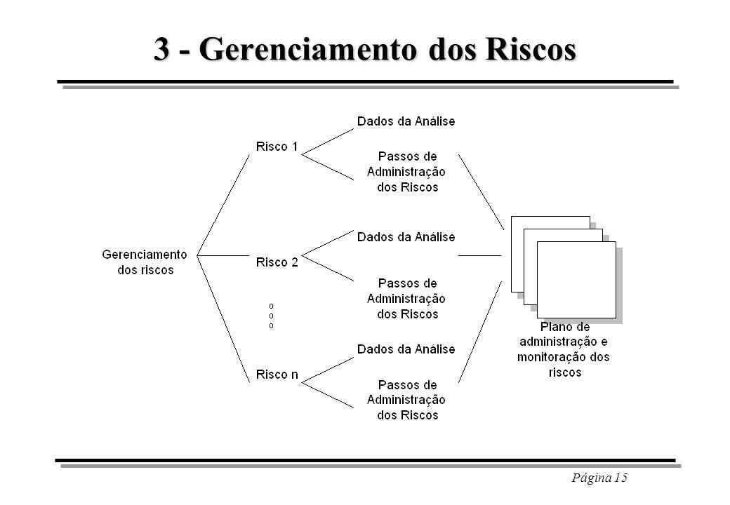 Página 15 3 - Gerenciamento dos Riscos