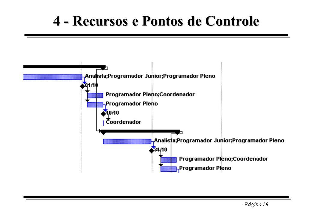 Página 18 4 - Recursos e Pontos de Controle