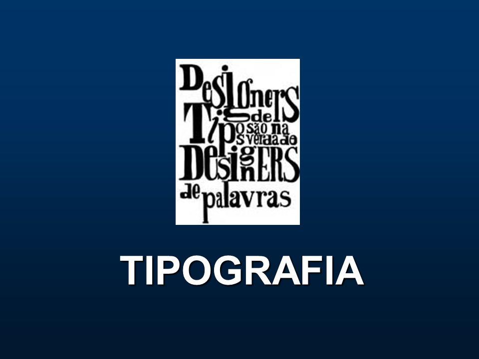 Tipografia Por muito tempo o trabalho com a tipografia, como atividade projetual e industrial gráfica, era limitado aos tipógrafos (técnicos ou designers especializados), mas com o advento da computação gráfica a tipografia ficou disponível para designers gráficos em geral e leigos.tipógrafosdesigners gráficos