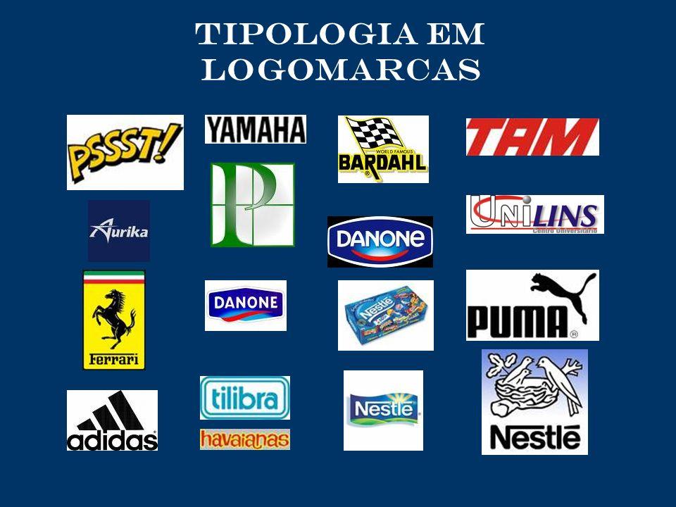 TIPOLOGIA em logomarcas
