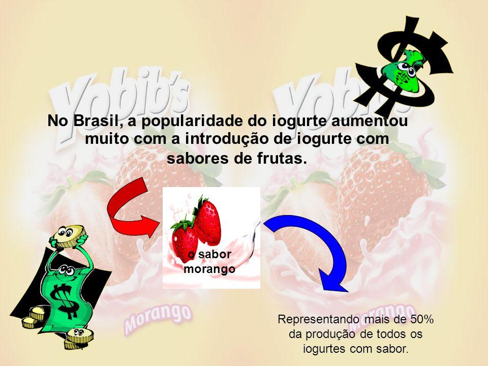 No Brasil, a popularidade do iogurte aumentou muito com a introdução de iogurte com sabores de frutas.