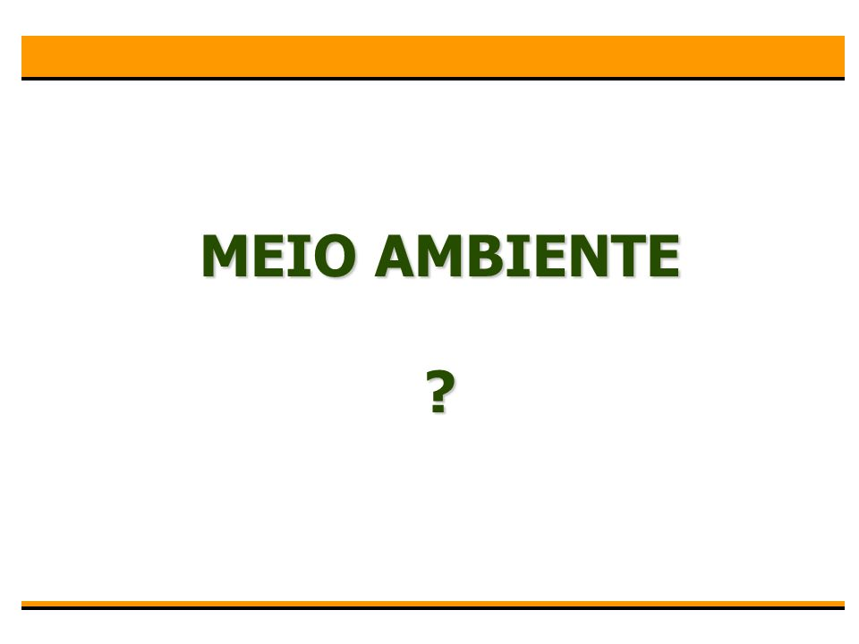 IMPACTO AMBIENTAL ?