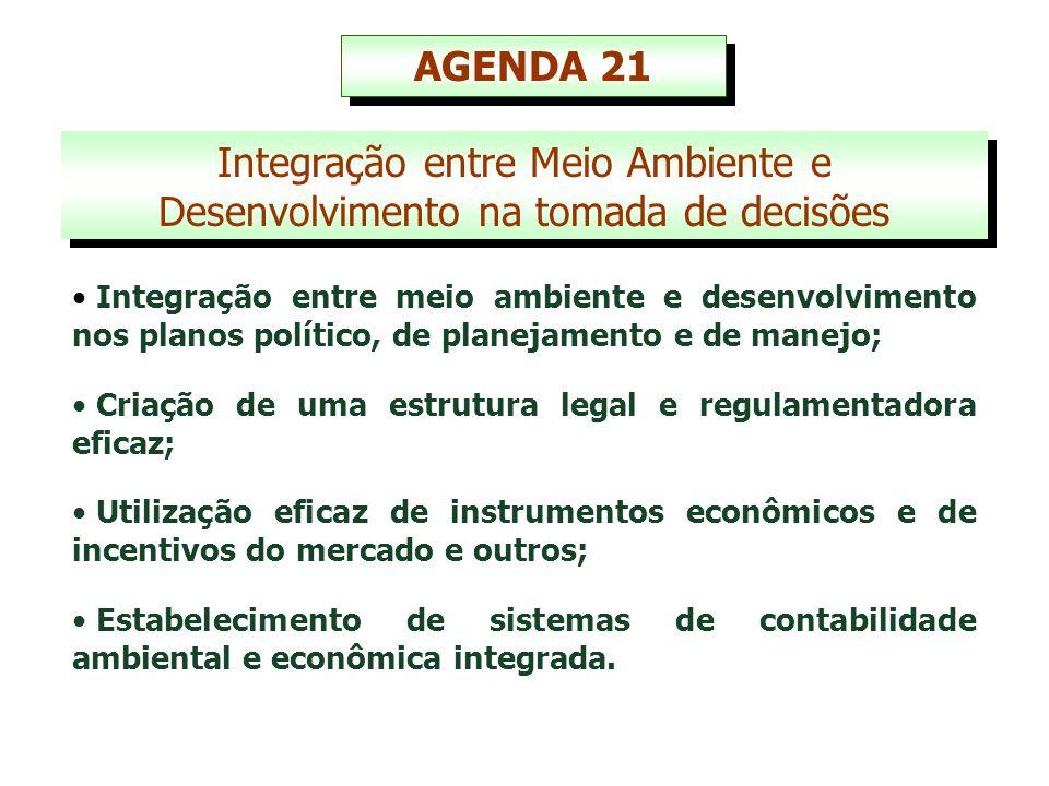 1992 – RIO/92 (Conferência das Nações Unidas sobre meio ambiente e desenvolvimento, com a participação de 180 chefes de Estado, resultando na AGENDA 21).
