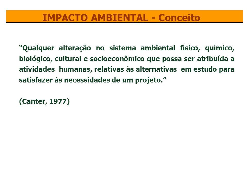 Impacto ambiental pode ser visto como parte de uma relação de causa e efeito.