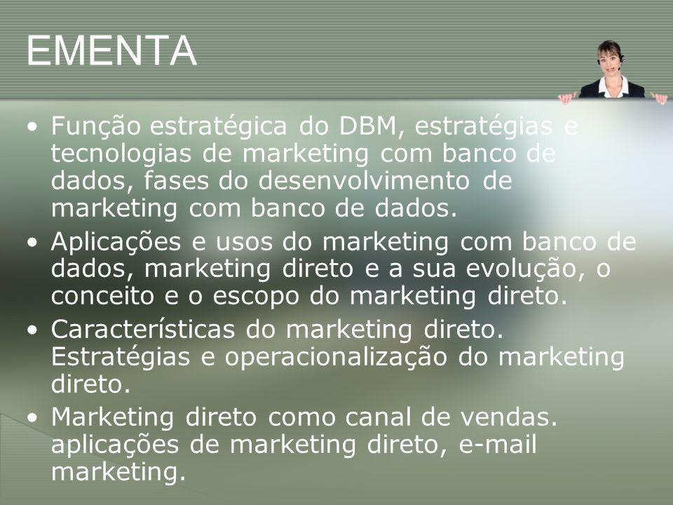 Grupo de Controle Em campanhas de marketing direto a seleção da lista é, disparado, o fator que exerce maior influência na taxa de retorno!.