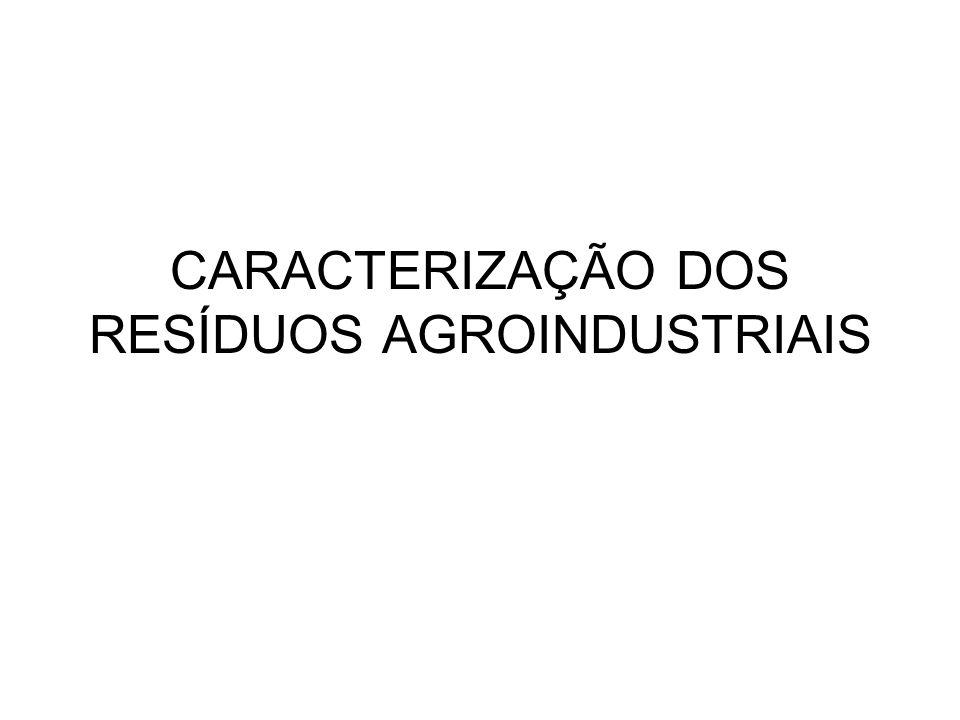 CARACTERIZAÇÃO DOS RESÍDUOS AGROINDUSTRIAIS