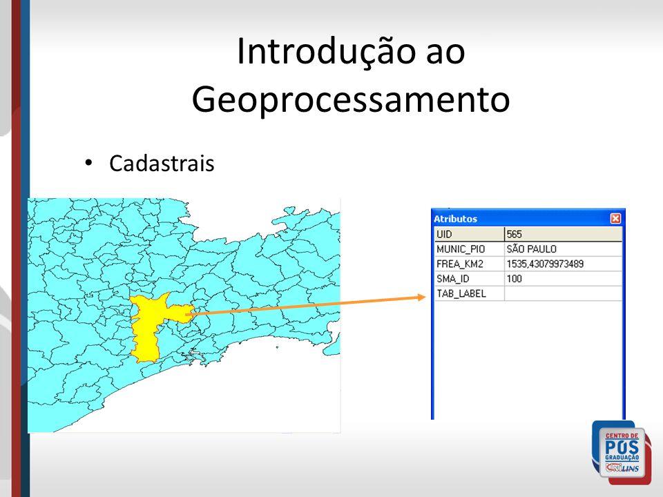 Introdução ao Geoprocessamento Cadastrais
