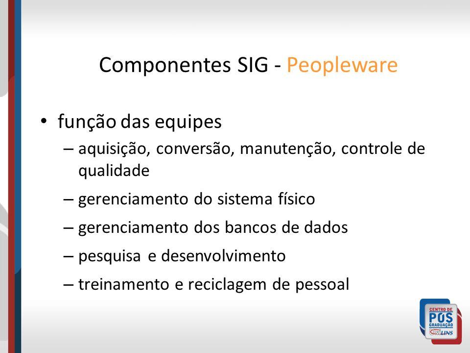 função das equipes – aquisição, conversão, manutenção, controle de qualidade – gerenciamento do sistema físico – gerenciamento dos bancos de dados – p