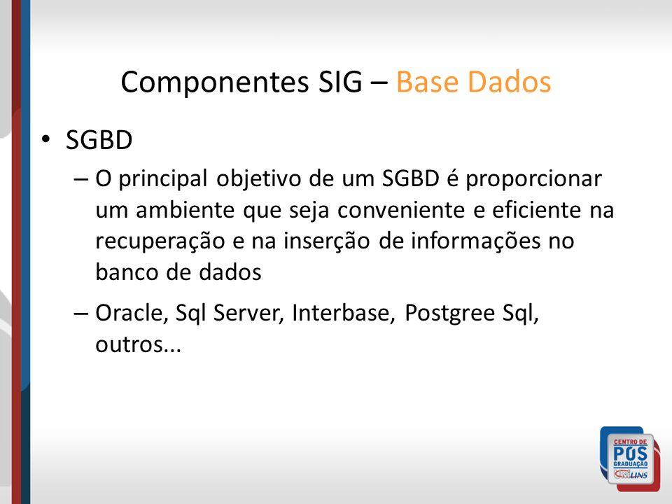 SGBD – O principal objetivo de um SGBD é proporcionar um ambiente que seja conveniente e eficiente na recuperação e na inserção de informações no banc