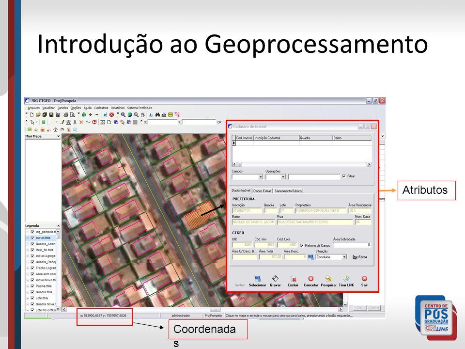 Introdução ao Geoprocessamento Atributos Coordenada s