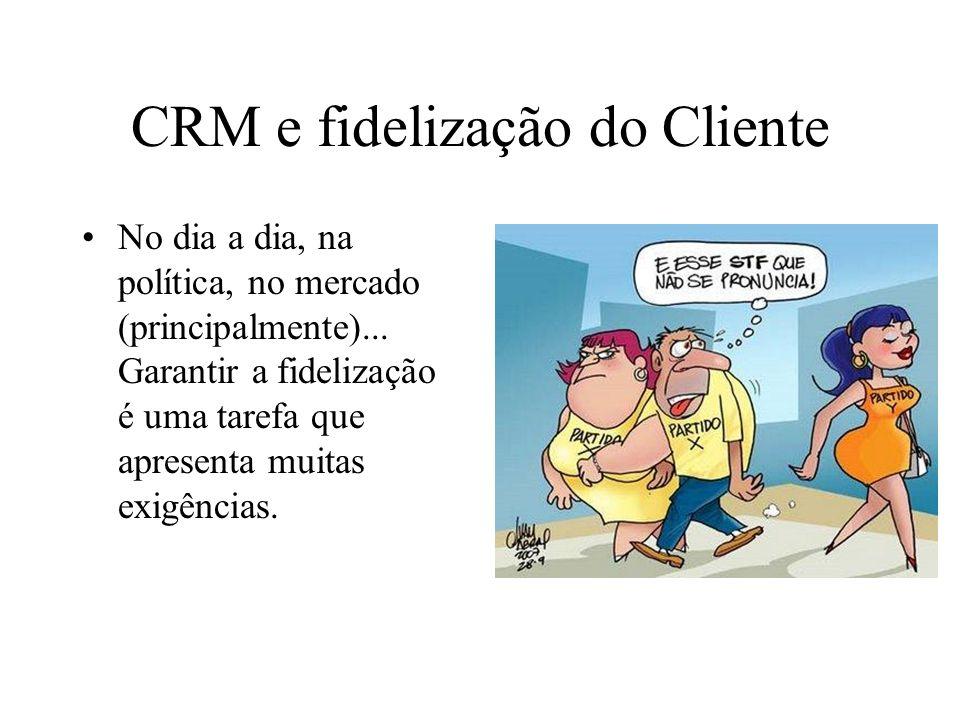 CRM e fidelização do Cliente No dia a dia, na política, no mercado (principalmente)...