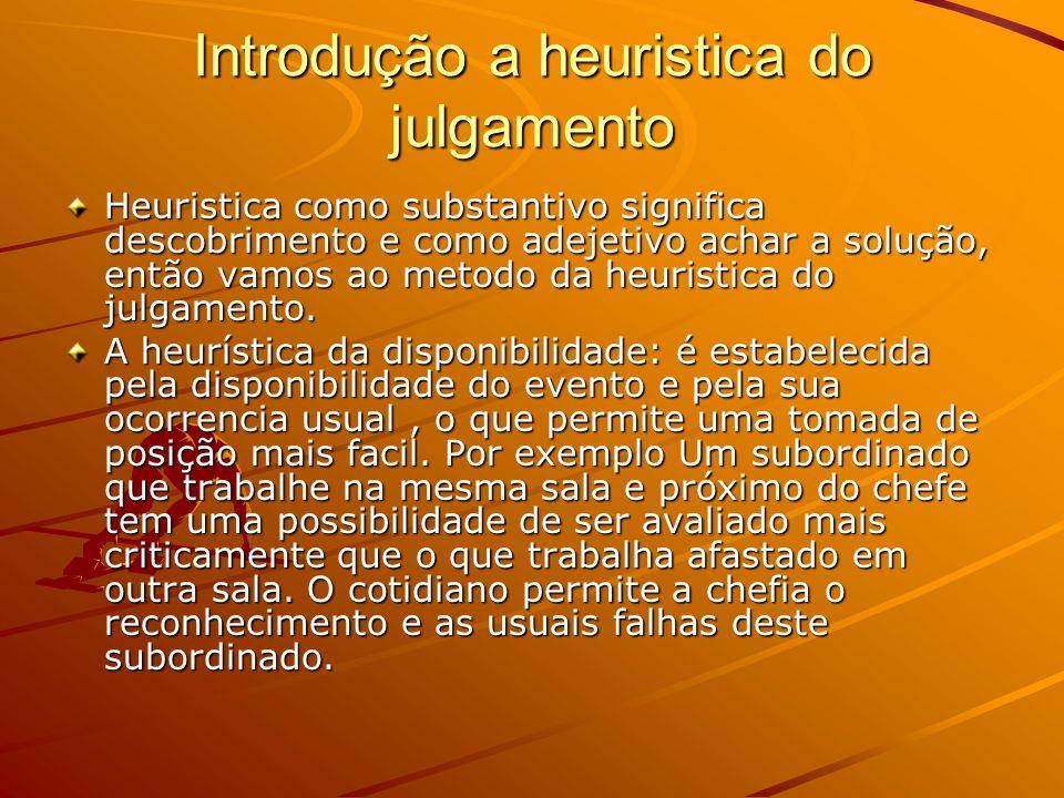 Introdução a heuristica do julgamento Heuristica como substantivo significa descobrimento e como adejetivo achar a solução, então vamos ao metodo da h