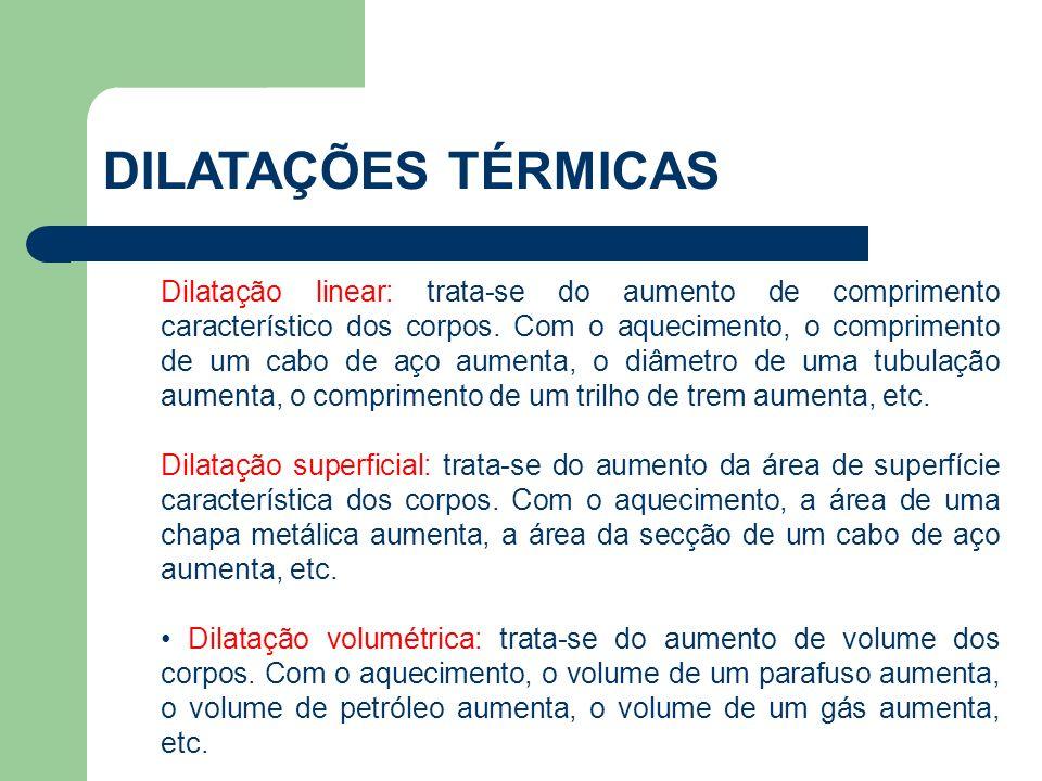 É importante salientar que a dilatação de um corpo não depende somente da variação de temperatura.