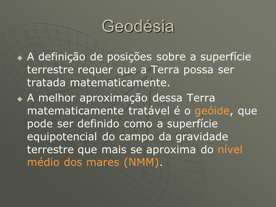 Geodésia A definição de posições sobre a superfície terrestre requer que a Terra possa ser tratada matematicamente. A melhor aproximação dessa Terra m