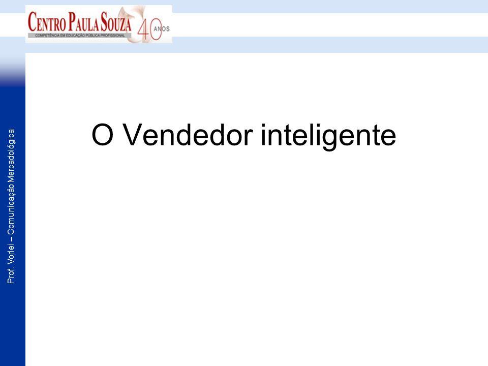 Prof. Vorlei – Comunicação Mercadológica O Vendedor inteligente