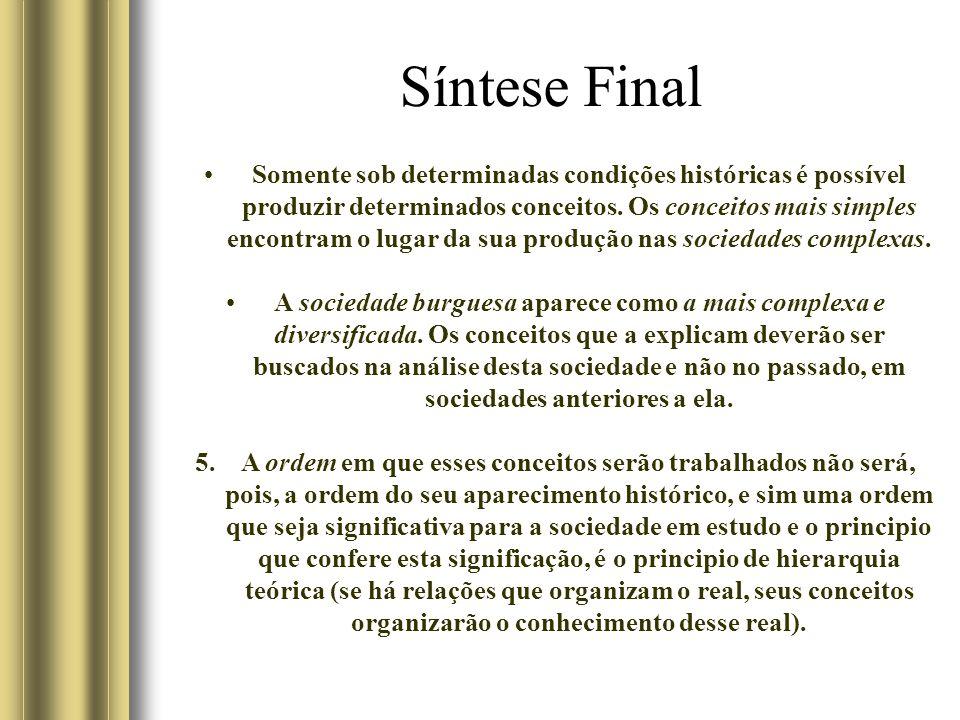 Síntese Final Somente sob determinadas condições históricas é possível produzir determinados conceitos.