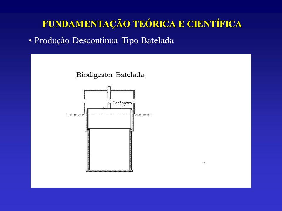 FUNDAMENTAÇÃO TEÓRICA E CIENTÍFICA Produção Descontínua Tipo Batelada