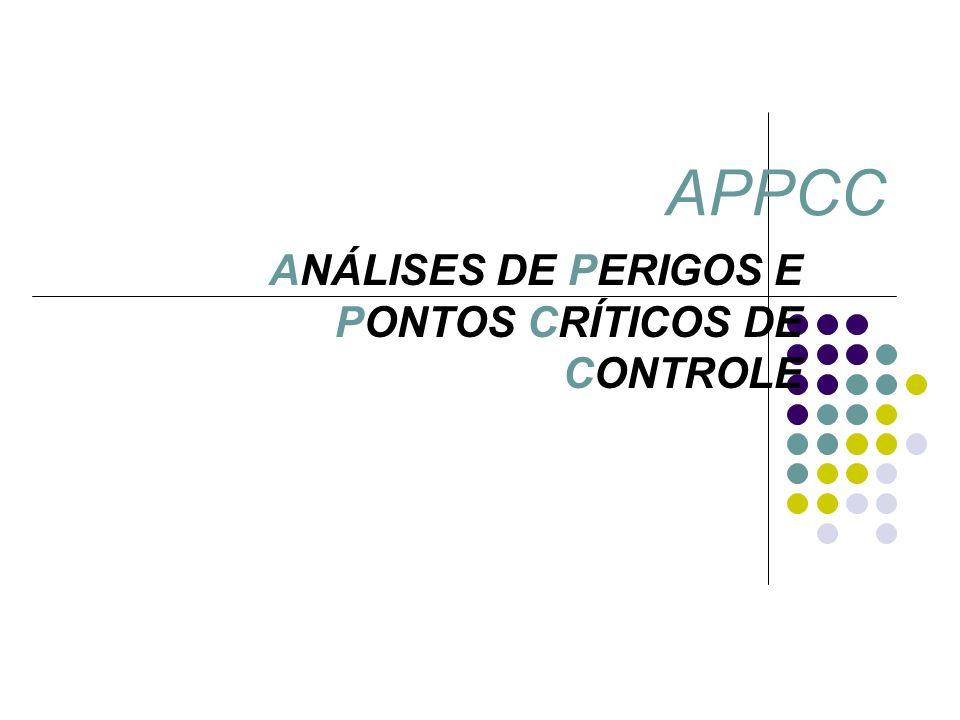 ANÁLISES DE PERIGOS E PONTOS CRÍTICOS DE CONTROLE APPCC