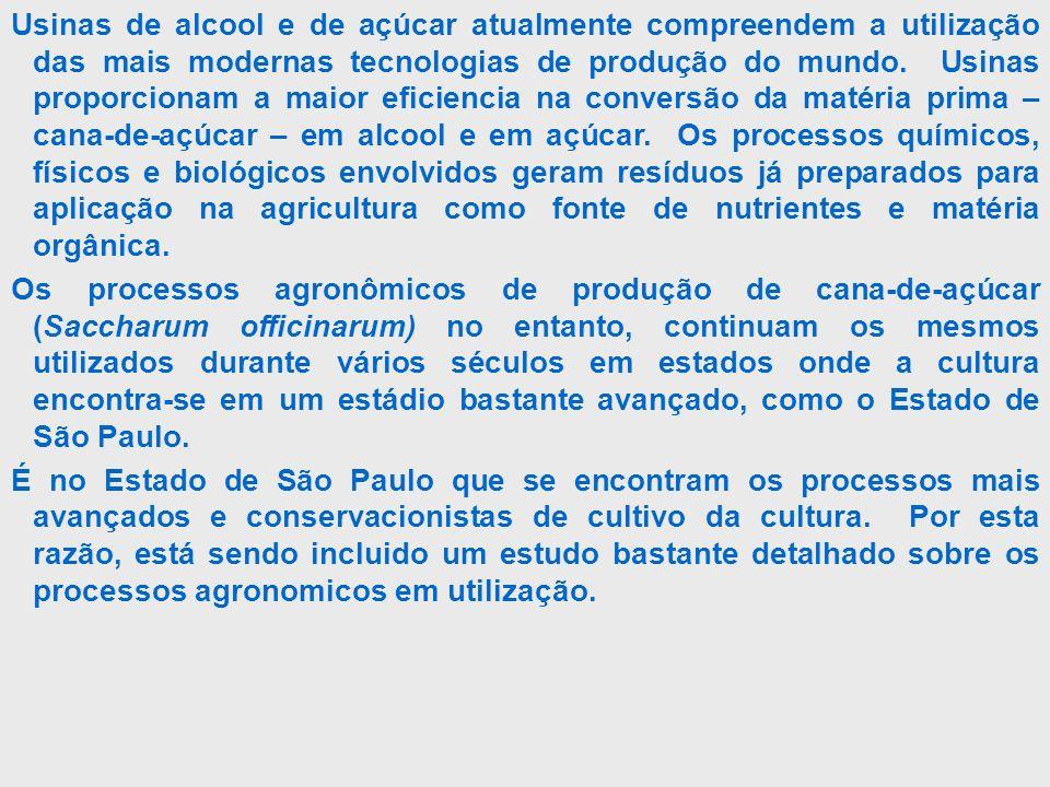 01- Sistema Convencional 02 – Sistema de Plantio Semi Direto 03- Sistema de Plantio Direto Mecanizado 04 – Sistema de Plantio de Cana Orgânica Sistemas de produção utilizados no Estado de São Paulo: