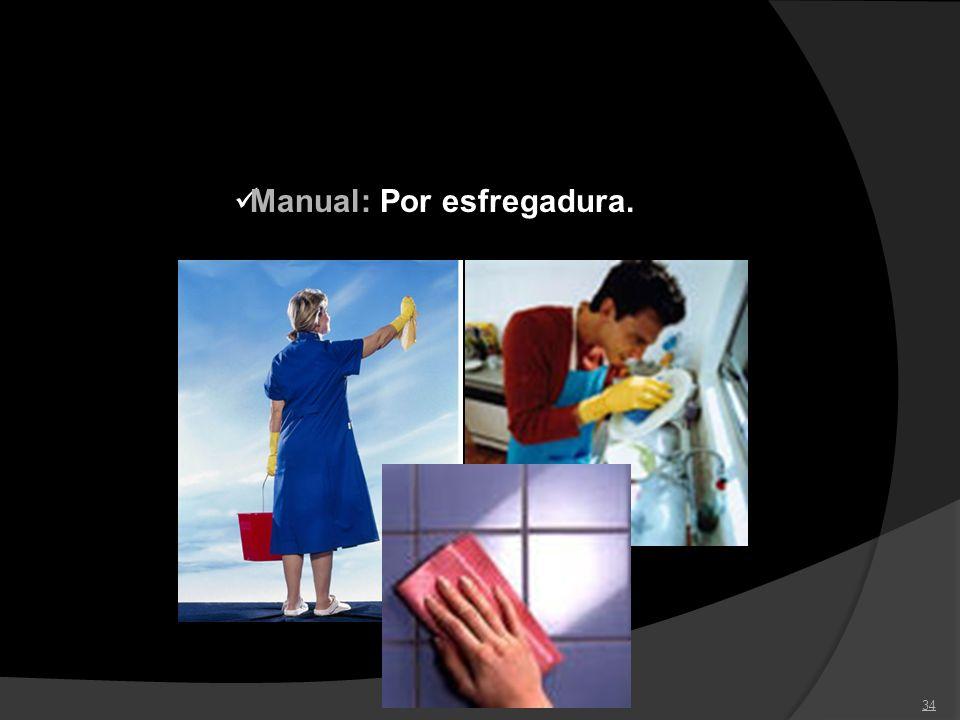 34 Manual: Por esfregadura.