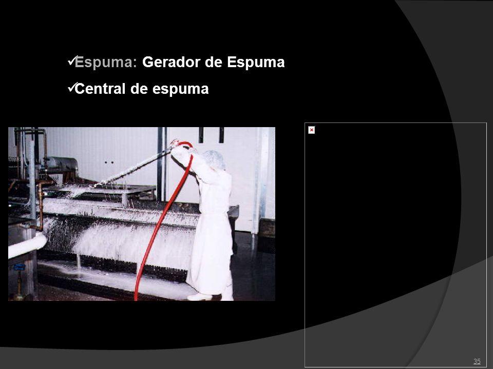 35 Espuma: Gerador de Espuma Central de espuma