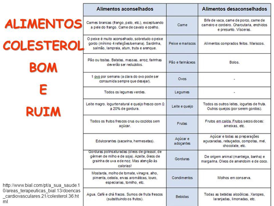 http://www.bial.com/pt/a_sua_saude.1 0/areas_terapeuticas_bial.13/doencas _cardiovasculares.21/colesterol.36.ht ml ALIMENTOSCOLESTEROLBOMERUIM