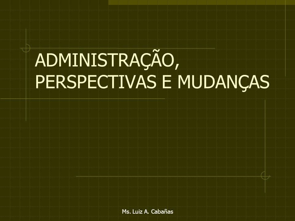 Ms. Luiz A. Cabañas CONCLUSÕES As mudanças nos próximos 5 anos deverão ser maiores que a dos últimos 30. As empresas necessariamente deverão passar pe