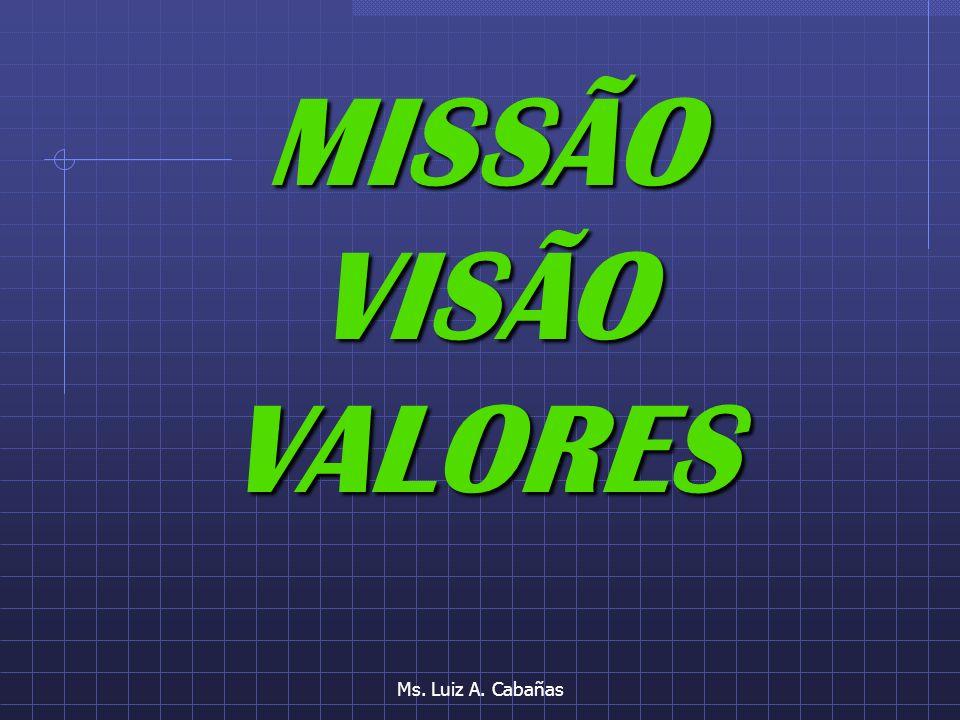 Ms. Luiz A. Cabañas MISSÃOVISÃOVALORES