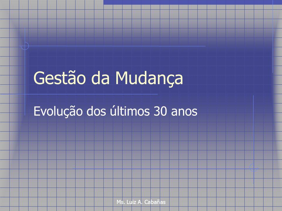 Ms. Luiz A. Cabañas Gestão da Mudança Evolução dos últimos 30 anos