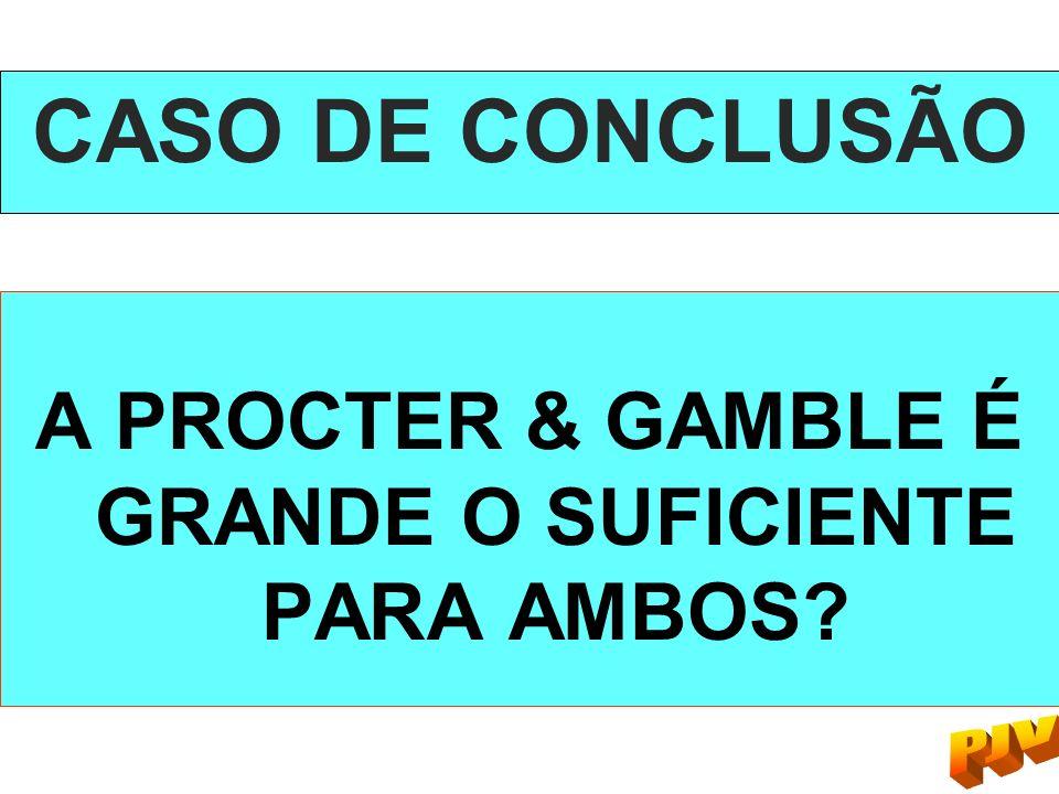 CASO DE CONCLUSÃO A PROCTER & GAMBLE É GRANDE O SUFICIENTE PARA AMBOS?