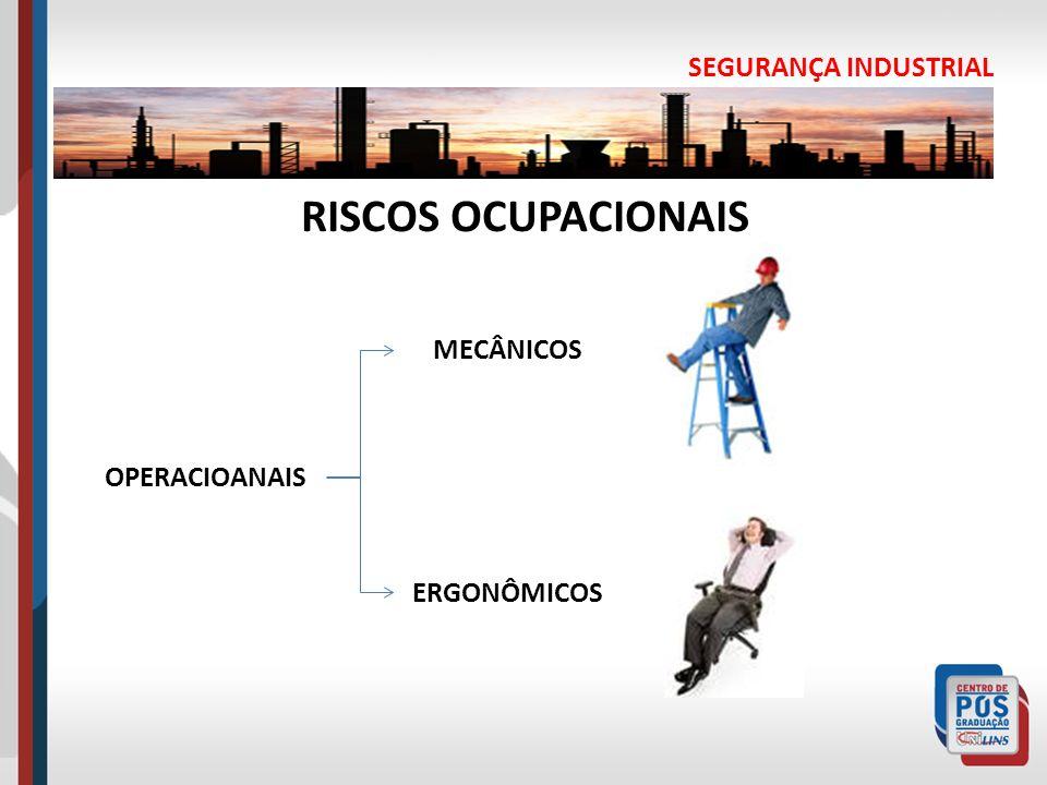 SEGURANÇA INDUSTRIAL RISCOS OCUPACIONAIS OPERACIOANAIS MECÂNICOS ERGONÔMICOS
