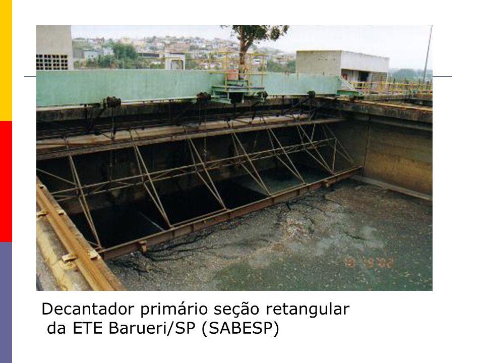 Decantador primário seção retangular da ETE Barueri/SP (SABESP)