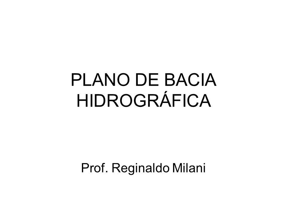 PLANO DE BACIA HIDROGRÁFICA Prof. Reginaldo Milani