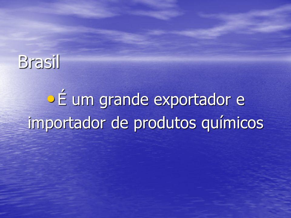 Brasil É um grande exportador e É um grande exportador e importador de produtos químicos
