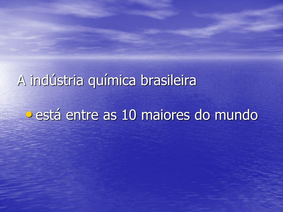 A indústria química brasileira está entre as 10 maiores do mundo está entre as 10 maiores do mundo