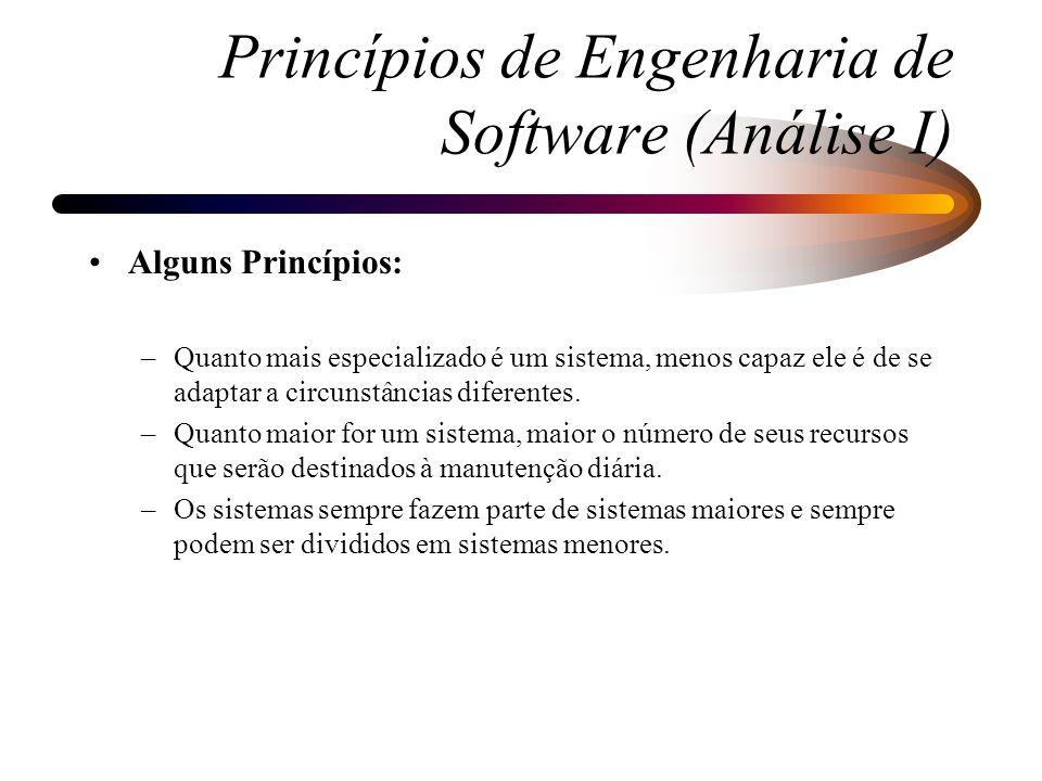 Fases do Ciclo de Vida da Análise Essencial: –Fase 2 - Análise: Propósito - definir e modelar o que o sistema irá fazer, independente da tecnologia que será utilizada.