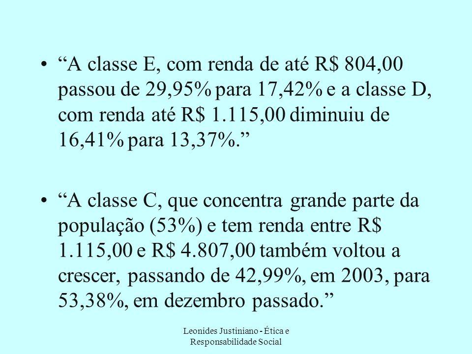 Ainda assim... Segundo Isabela Vieira, da Agência Brasil: Nos últimos seis anos, as classes de renda mais elevada cresceram cerca de 50% no país. Segu
