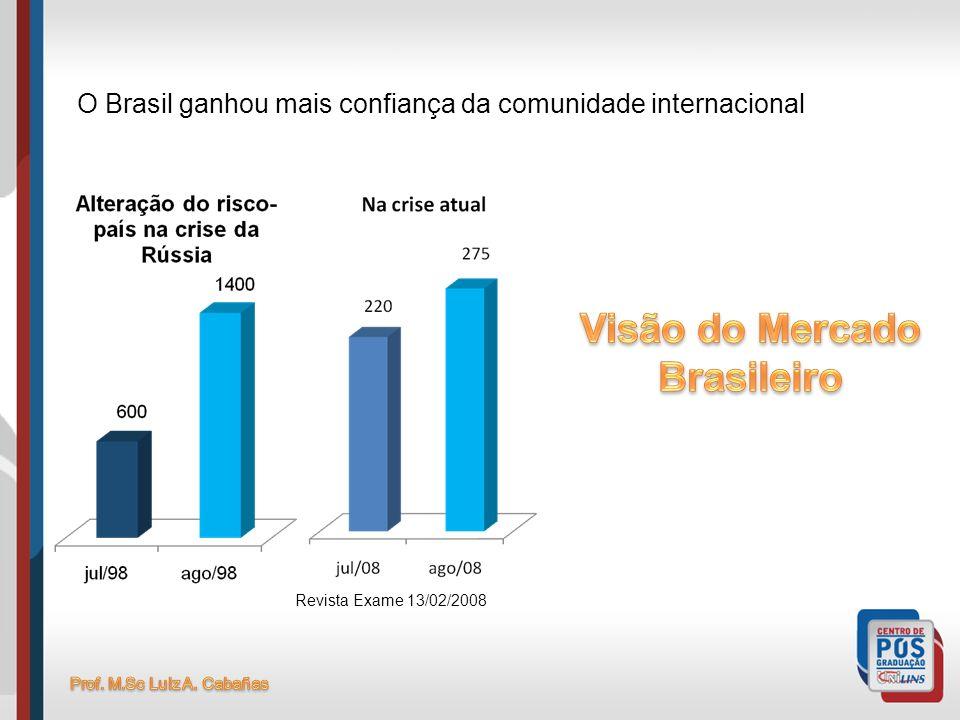 Revista Exame 13/02/2008 O Brasil ganhou mais confiança da comunidade internacional