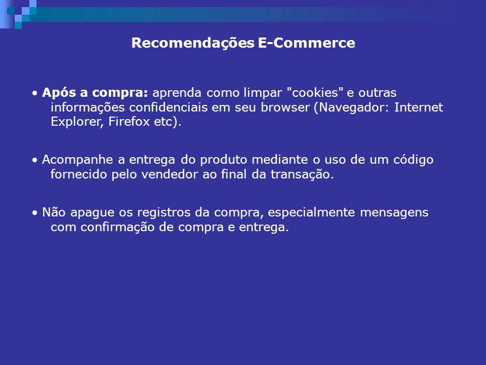 Recomendações E-Commerce Após a compra: aprenda como limpar