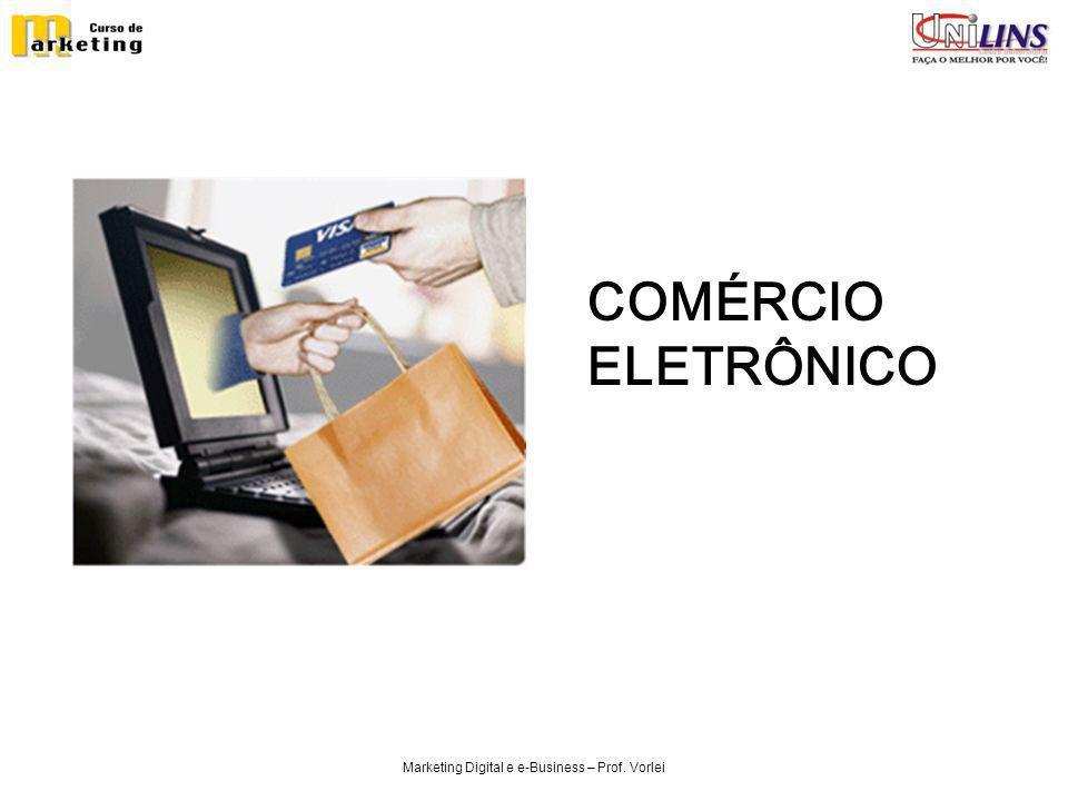 Marketing Digital e e-Business – Prof. Vorlei COMÉRCIO ELETRÔNICO