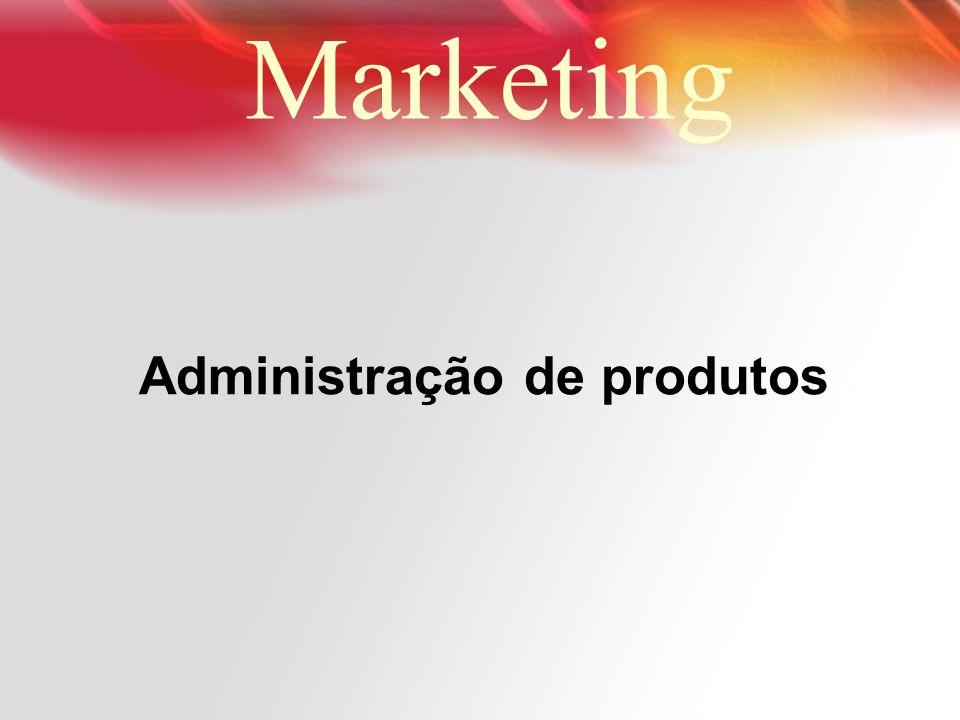 Administração de produtos Marketing
