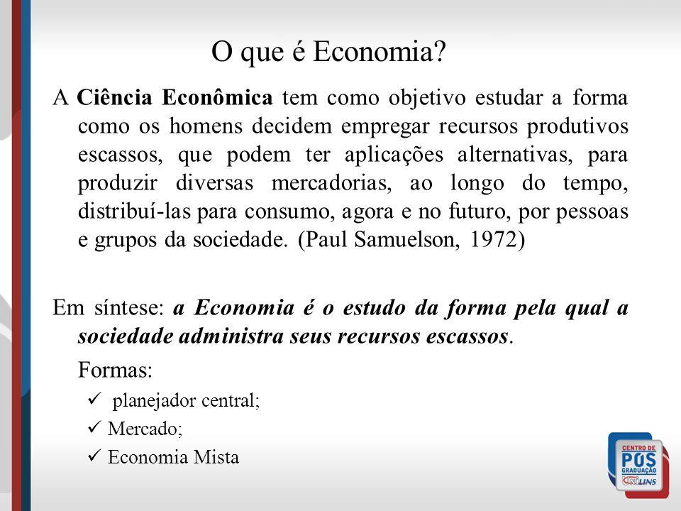 A palavra Economia vem do grego OIKOS - aquele que administra o local onde vive. Uma pessoa se depara com muitas decisões no seu dia-a-dia. Exemplos: